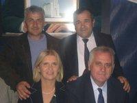 Milenko Rudinac i Radoslav Ružić sa predsednikom Srbije Tomislavom Nikolićem i njegovom suprugom Dragicom 15.10.2013. Bajčetina